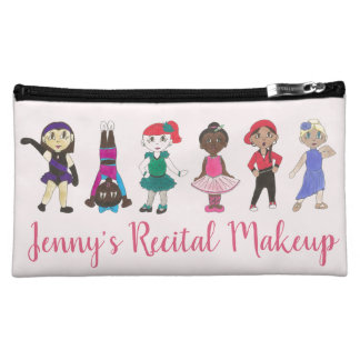 Personalized Dance Recital Makeup Ballet Tap Jazz Makeup Bag