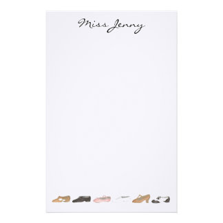 Personalized Dance Shoes Teacher Gift Stationery