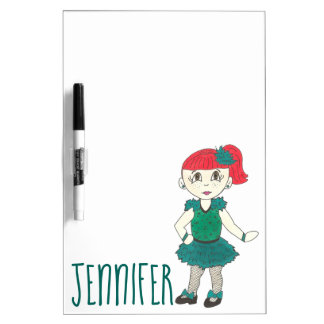 Personalized Dance Teacher Gift Tap Dancing Girl Dry Erase Board