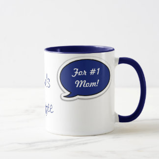 Personalized Dark Blue Speech Bubble Mug