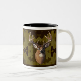 Personalized Dark Camo Deer Mug
