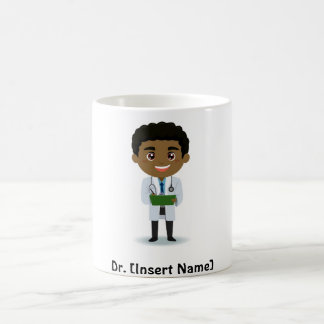 Personalized Dark Complexion Male Doctor Coffee Mug