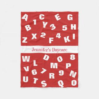 Personalized Daycare Alphabet Fleece Blanket