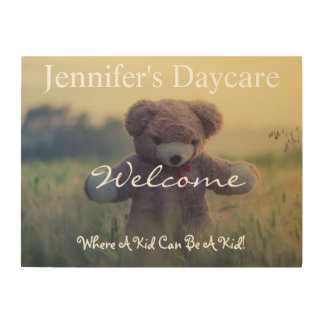 Personalized Daycare Country Bear Welcome Sign