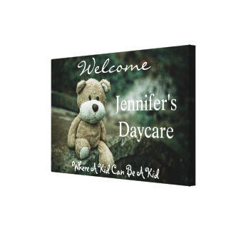 Personalized Daycare w/Bear Welcome Sign