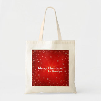 Personalized Decorative Christmas Gift Budget Tote Bag