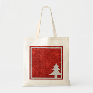 Personalized Decorative Merry Christmas Tree Budget Tote Bag