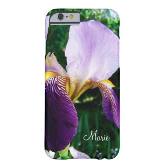 Personalized Deep Purple Iris Photo iPhone 6 Case Barely There iPhone 6 Case