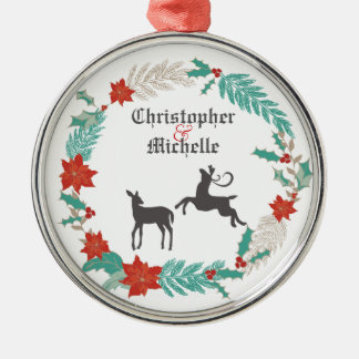Personalized Deer Couples 1st Christmas Ornament