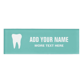 Personalized dentist office magnetic name tags name tag