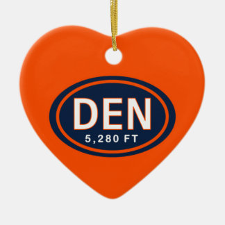 Personalized Denver CO 5,280 FT Heart Ornament