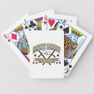 Personalized Deputy Sheriff Bicycle Playing Cards