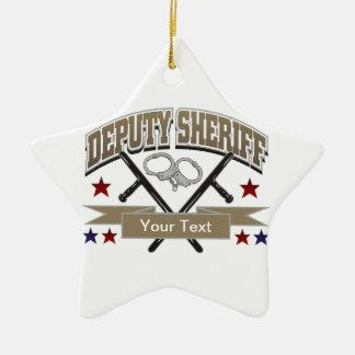 Personalized Deputy Sheriff Ceramic Star Decoration