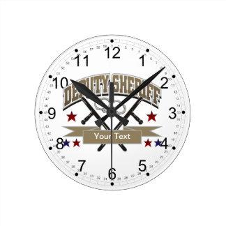 Personalized Deputy Sheriff Clocks