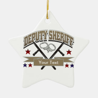 Personalized Deputy Sheriff Christmas Tree Ornaments
