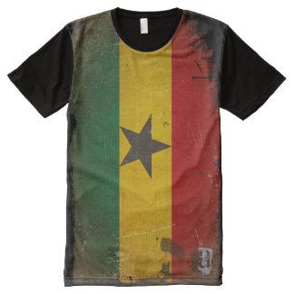 Personalized Designer Vintage Grunge Ghana Flag All-Over Print T-Shirt