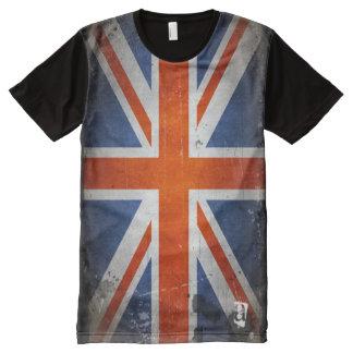 Personalized Designer Vintage Grunge UK Flag All-Over Print T-Shirt