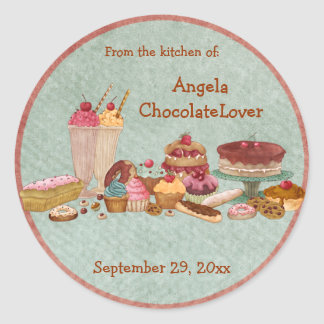Personalized Dessert Recipe Stickers
