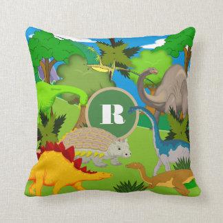 Personalized Dinosaur Land Cushion