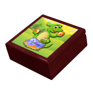 Personalized Dinosaur mother and baby cartoon Gift Box