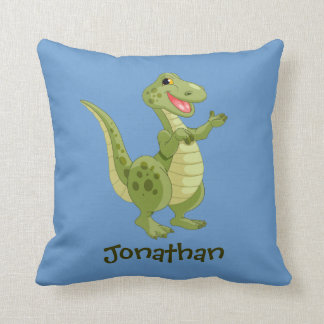 Personalized Dinosaurs Throw Pillow