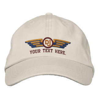 Personalized DJ Deco Style Wings Embroidered Baseball Cap