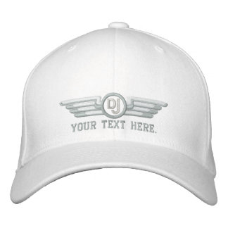 Personalized DJ Deco Style Wings Embroidered Cap