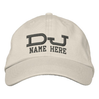 Personalized DJ Embroidered Baseball Caps