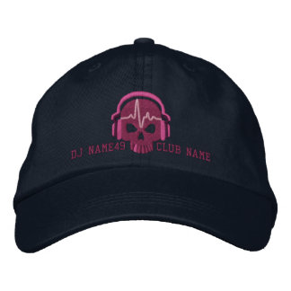 Personalized DJ Skull Your Name Club Embroidery Embroidered Baseball Caps