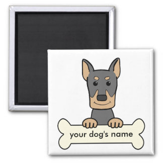 Personalized Doberman Square Magnet