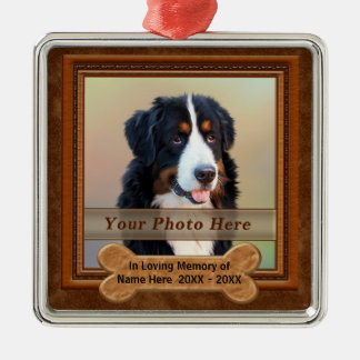 Personalized Dog a Memorial Gifts YOUR PHOTO, TEXT Christmas Ornament