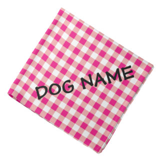 Personalized dog bandana | Red and white gingham