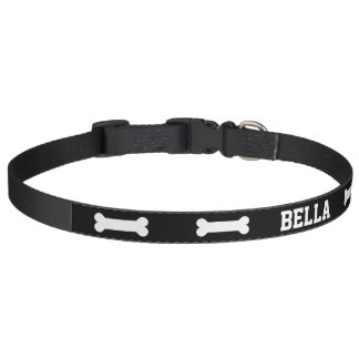 Personalized Dog Bone Pet Collar