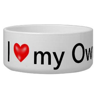 Personalized Dog Bowl -  I love my owner