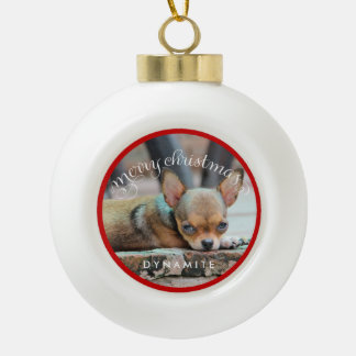 Personalized Dog Christmas Ornaments Ceramic Ball