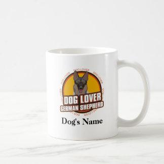 Personalized Dog Lover German Shepherd Dog Breed Basic White Mug