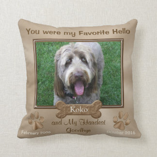 Personalized Dog Memorial Pillow PHOTO and TEXT