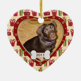 Personalized Dog Photo Frame Christmas Ornament