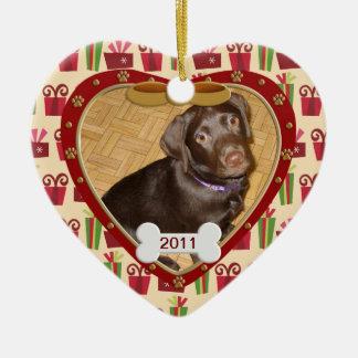Personalized Dog Photo Frame Christmas Tree Ornament