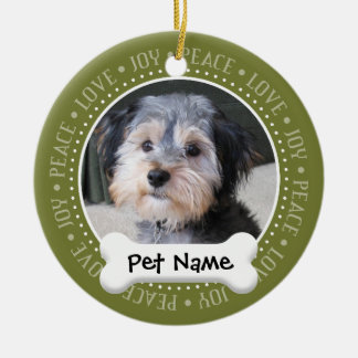 Personalized Dog Photo Frame - SINGLE-SIDED Christmas Ornament