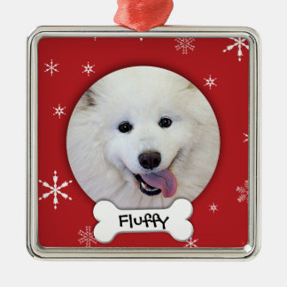Personalized Dog Photo Holiday Christmas Ornament
