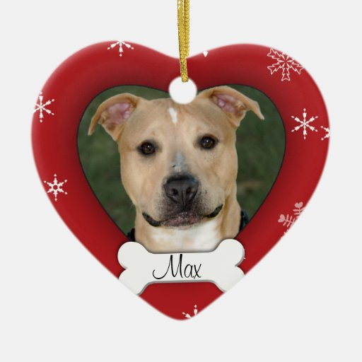Personalized Dog Photo Holiday Ornament