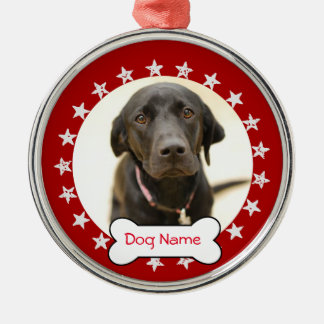 Personalized Dog Photo Ornament - Stars