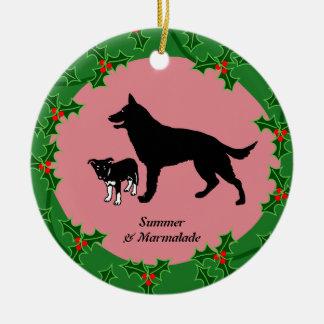 Personalized dog xmas christmas ornament