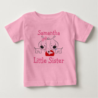 Personalized Dogs Little Sister T-shirt