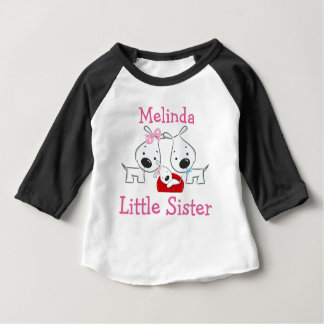 Personalized Dogs Little Sister Shirts