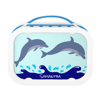 Personalized Dolphins In The Ocean Lunch Box