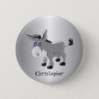 Personalized Donkey Design 6 Cm Round Badge