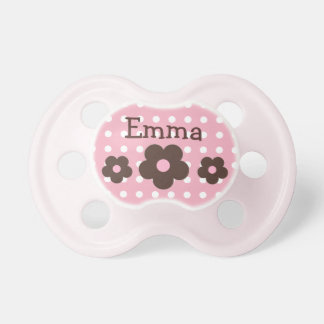 "Personalized ""Dots & Daisies"" Pacifier"
