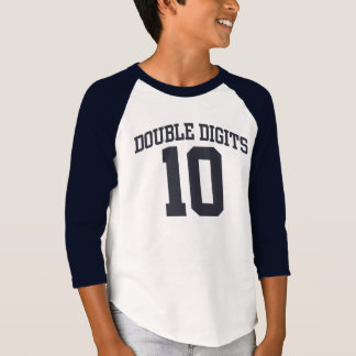 Personalized Double Digits #10 BIRTHDAY Tee